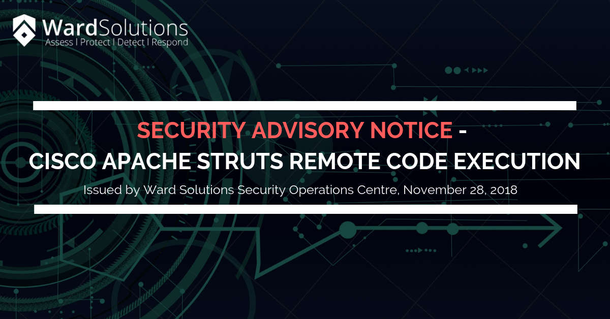 Security Advisory Notice – Cisco Apache Struts Remote Code…